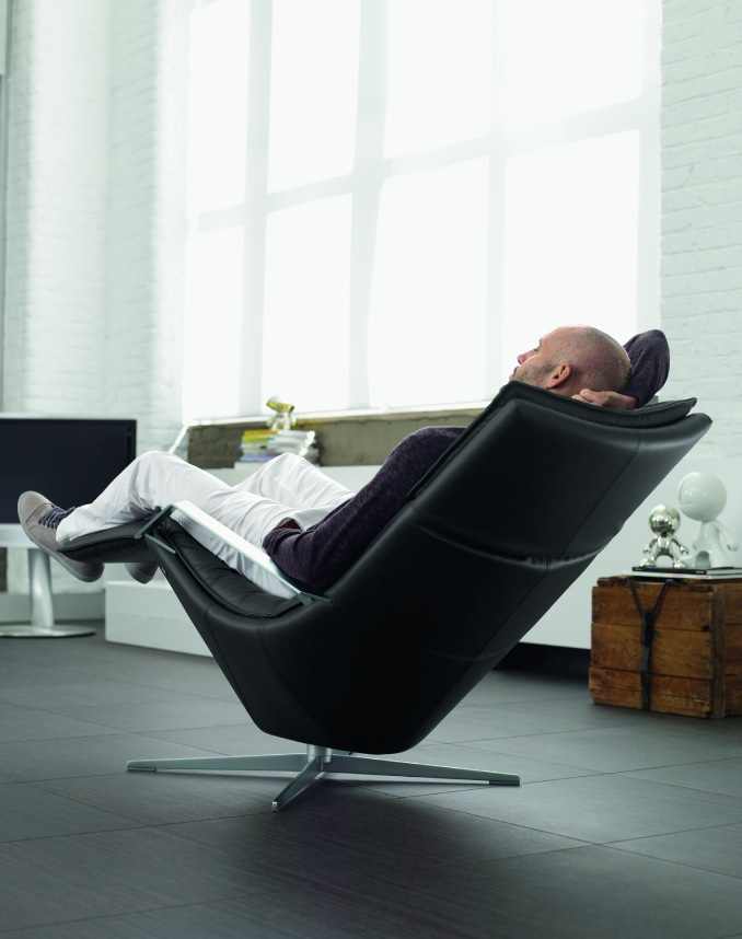 2-Contemporary-black-recliner-chair